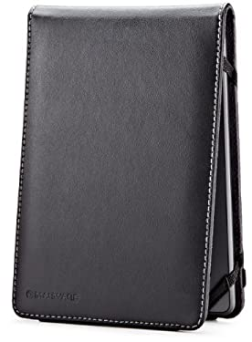 Marware Eco-Flip Genuine Leather Case Cover for Kindle, Black (fits Kindle Paperwhite, Kindle, and Kindle Touch)