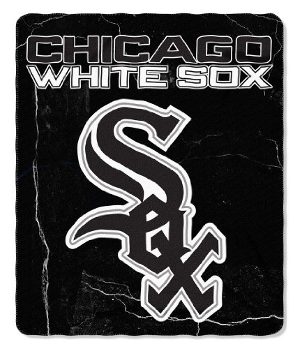 Chicago White Sox Official MLB 10 inch x 7 inch Fleece Blanket Wicked Design by Northwest Company 974821