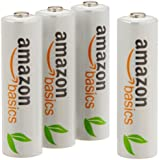 AmazonBasics AA Rechargeable Batteries (4-Pack) Pre-charged