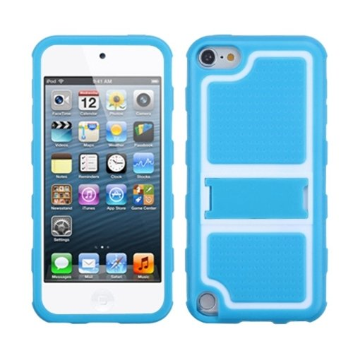 Mybat Unique Armor Kickstand Protective Case For Ipod Touch 5 (Baby Blue Gummy) front-623561