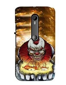 Omnam Circus Joker Annoying Printed Designer Back Cover Case For Motorola Moto G3