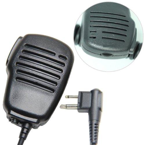 Rainproof Shoulder Remote Speaker Mic Microphone Ptt Adjustable Volume For 2-Pin Motorola Radio Cp040 Cp200 Xtni Dtr Vl50