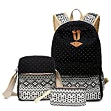 Hitop Geometry Dot Casual Canvas Backpack Bag, Fashion Cute Lightweight...