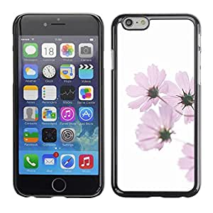Omega Covers - Snap on Hard Back Case Cover Shell FOR Apple Iphone 6 Plus / 6S Plus ( 5.5 ) - Purple Flower White Minimalist Green