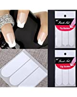 LOT 10 Paquet Tips Guide French Sticker Autocollant Ongle Deco Manucure Nail Art