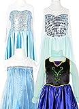 【ノーブランド品】 アナと雪の女王 / Frozen 風 子供用 ドレス 衣装