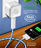 Dexim DCA257WL Visible Green Smart Charger for iPhone, iPod Touch & iPad (White/Blue)