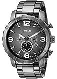Fossil - JR1437 - Montre Homme - Quartz Chronographe - Chronomètre/ Aiguilles lumineuses - Bracelet Acier Inoxydable Plaqué Noir