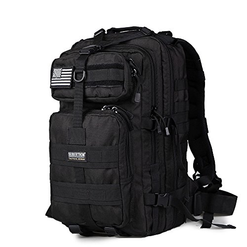 seibertron-falcon-water-repellent-hiking-camping-backpack-compact-pack-summit-bag-black-37l