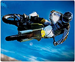 CafePress Motocross Side Trick Throw Blanket - Standard Multi-color