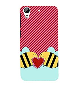 Love Bees 3D Hard Polycarbonate Designer Back Case Cover for HTC Desire 626 G::HTC Desire 626G Plus::HTC Desire 626G+