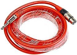 Chetan XLR (Female) TO MONO P38 (Male) Heavy Duty Cable (Red/ Black/ Blue/ Green/ Yellow) 30 mtrs