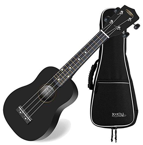 Classic cantabile soprano us 100 bk ukul l noir set avec for Housse ukulele
