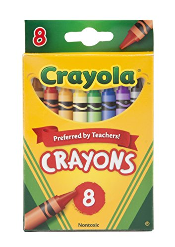 Crayola Crayons, 8 Count (52-3008) back-1034214