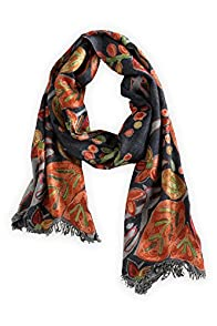 Asian Eye Fantasia Wool Fair Trade Scarf (Grey)