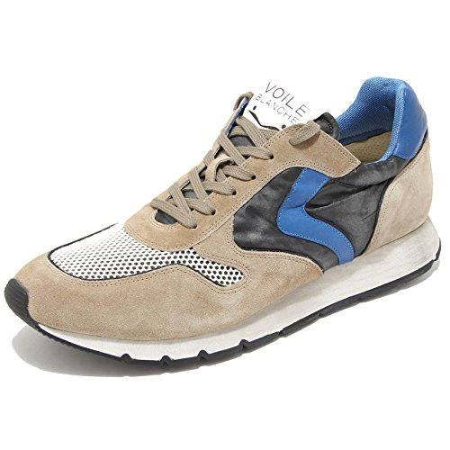 Voile Blanche Scarpe Sneaker Uomo Stringata Men Shoe Liam Velour,43