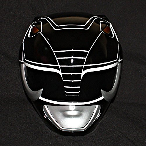 1:1 Halloween Costume Cosplay Mighty Morphin Power Ranger Helmet Mask Black PR15