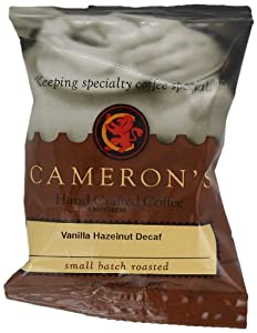 Cameron's Vanilla Hazelnut Decaf Ground Coffee, 1.75-Ounce Pouches (Pack of 24)