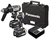 """Panasonic EYC159LR 18-Volt Li-ion Combo Kit with 1/2"""" Hammer Drill / Driver and Impact Driver with (2) 3.3Ah Batteries"""