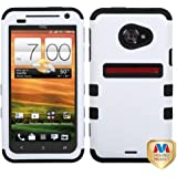 MYBAT HTCEVO4GLHPCTUFFSO028NP Premium TUFF Case for HTC: EVO 4G LTE - 1 Pack - Retail Packaging - Ivory White/Black