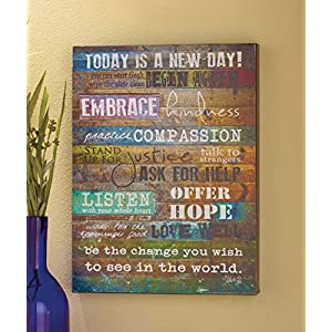 Today is a New Day Wood Wall Art by Marla Rae