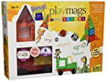 Playmags 100-Piece Clear Colors Magne...