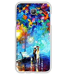 Love Couple Painting 2D Hard Polycarbonate Designer Back Case Cover for Samsung Galaxy On5 (2015) :: Samsung On 5