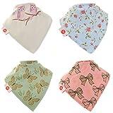 Zippy Fun Baby Bandana Drool Bibs (4 Pack Gift Set) Vintage Patterns