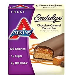 Atkins Endulge Treat, Chocolate Caramel Mousse Bar, 5 Bars