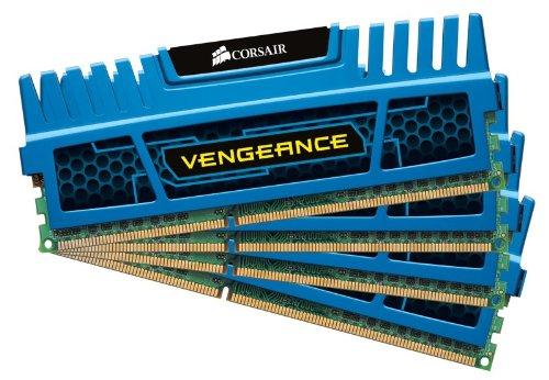 Corsair CMZ16GX3M4A1600C9B 16GB (4x4GB) 1600MHz CL9 DDR3 Vengeance Blu Memory Four Module Kit