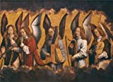Perfect Effect Canvas ,the Vivid Art Decorative Canvas Prints Of Oil Painting 'Hans Memling - Christ With Singing And Music-Making Angels, Right Panel,1480s', 30x41 Inch / 76x105 Cm Is Best For Bathroom Decoration And Home Decoration And Gifts