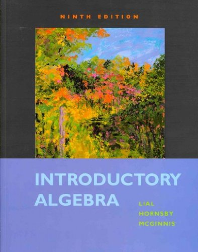 Introductory Algebra with MathXL (12-month access) (9th Edition)