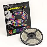 SUPERNIGHT (TM) IP65 Waterproof 5M/16.4 Ft RGB SMD 3528 LED Color Changing 300 LED Flexible Strip Light