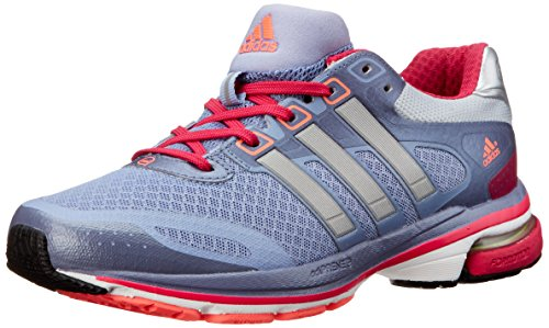 adidas Performance Women's Supernova Glide 5 W Running Shoe, Prism Blue/Silver/Pink, 9 M US