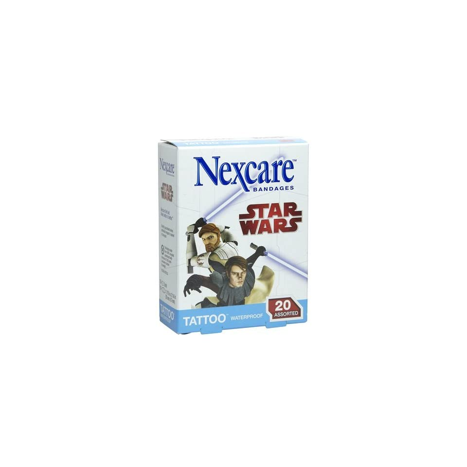 Nexcare Tattoo Waterproof Bandage 20 Count One Size Pack Of 12