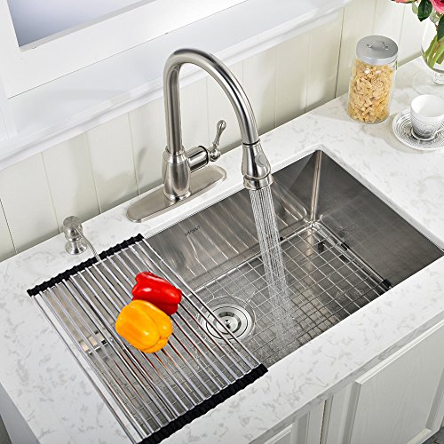franke usa 22gauge singlebasin dropin stainless steel bar sink with faucet