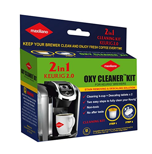 Descaling Kit, Descaler for Keurig 2.0, For all K-Cup Brewers, Biodegradable, Non Toxic (Keurig K Cups Brewer compare prices)