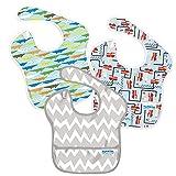 バンキンス スーパービブ/スタイ3点セット【日本正規品】洗濯機でも洗える お食事用防水ビブ 6~24ヶ月 Boy Assorted S3-B24