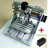 CNC 3 Axis Engraver Machine Milling Wood Carving DIY Mini Engraving Router Kits plus 500MW Laser Head - DHL shipping