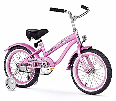 Firmstrong Girl's Bella Single Speed Bicycle with Training Wheels