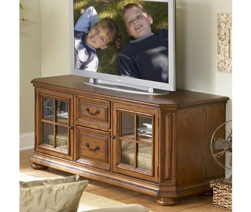 Cheap Riverside Furniture Seville Square 65 Inch TV Stand in Warm Oak (B002UPYDZQ)
