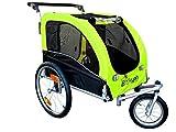 Booyah Large Pet Bike Trailer Dog Stroller & Jogger with Shocks MB - Green