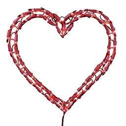 Kurt Adler Heart Window D?or, 12-Inch, Red by Kurt S. Adler Inc.