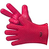 ACE Wear Silicone Heat Resistant BBQ Oven Gloves & Potholder For Grilling, Baking, & Cooking