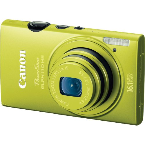 Canon PowerShot ELPH 110 HS 16.1 MP CMOS Digital Camera with 5x Optical Image Stabilized Zoom 24mm Wide-Angle Lens and 1080p Full HD Video Recording (Green)