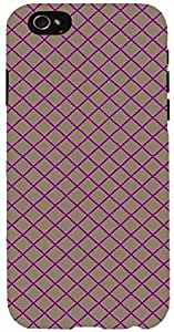 Snoogg chequered pattern design 1639 Case Cover For Apple Iphone 6 iphone 6