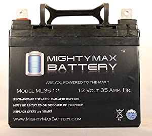 12V 35AH Wilderness Tarpon 100 Kayak Trolling Motor Battery - Mighty Max Battery brand product