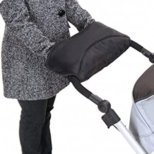 Your Baby Pushchair/Pram/Stroller Fleece Hand Muff / Hand Warmer (Black/ Grey) from Your Baby