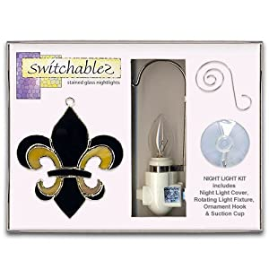 Switchables - SW091K - Fleur De Lis - Stained Glass Night Light Kit