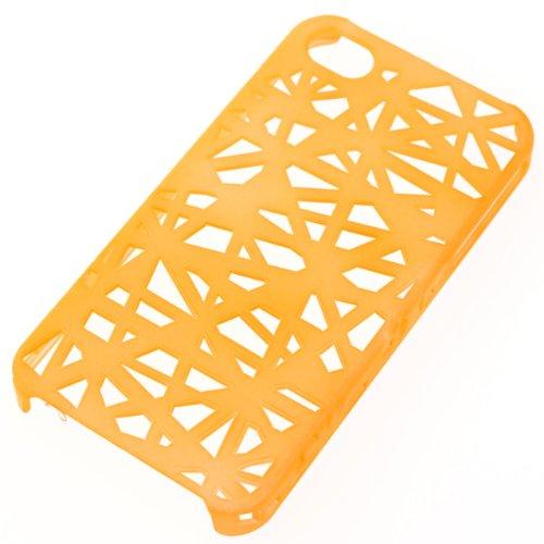 iPhone4S/4用 ハード ケース Incase Bird's Nest Snap Case 調 スケルトンスパイダー  オレンジ